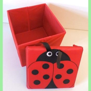 maison en france lustige aufbewahrungsbox kleiner marienk fer. Black Bedroom Furniture Sets. Home Design Ideas